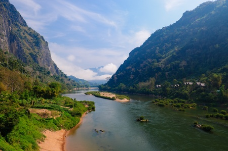 Nong khiaw river, Northern of Laos photo
