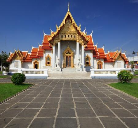 The Marble Temple(Wat Benchamabophit ), Bangkok, Thailand photo