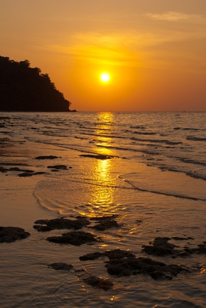 Sunset at island, Thailand photo