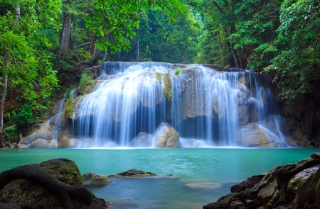 waterscape: Erawan Waterfall, Kanchanaburi, Thailand