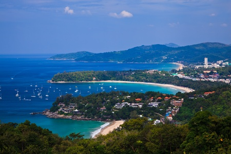 Bird eye view of Phuket, Thailand 版權商用圖片