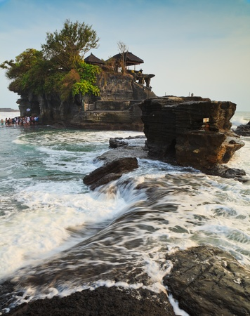 Temple in the sea( Pura tanah lot), Bali, Indonesia photo
