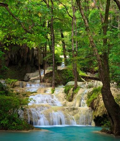 wonderful thailand:  Erawan Waterfall, Kanchanaburi, Thailand