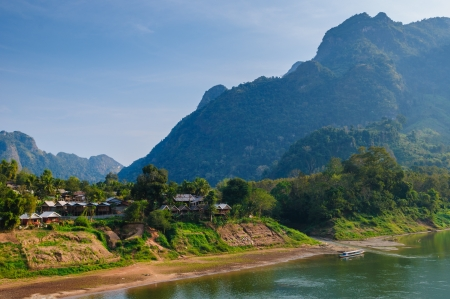nam: Nong khiaw river, Northern of Laos