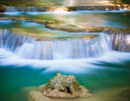 Deep forest Waterfall in Kanchanaburi, Thailand