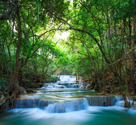 kanchanaburi: Deep forest Waterfall in Kanchanaburi, Thailand