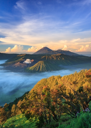 Bromo vocalno at sunrise, East Java, , Indonesia Imagens