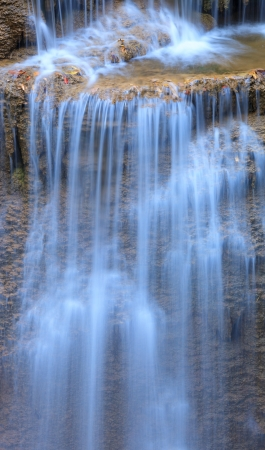 eravan: Close up Erawan Waterfall in Kanchanaburi, Thailand Stock Photo