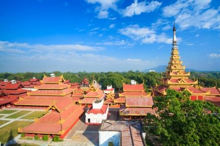 Mandalay palace, Bird eye view, Mandalay, Myanmar
