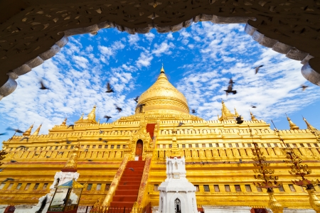 world heritage site: Shwezigon golden Pagoda,Bagan, Myanmar