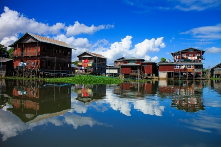 House in Inle lake village, Shan state, Myanmar