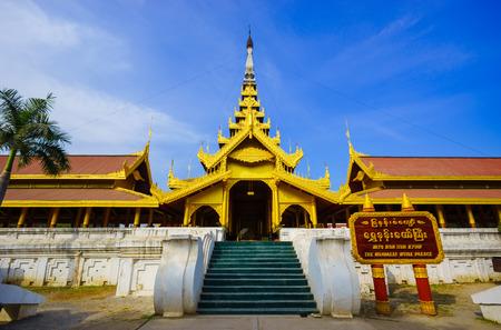 Mandalay palace,  Mandalay, northern of Myanmar