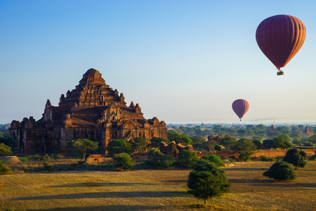 Dhammayangyi temple at sunrise, The biggest Temple in Bagan  Pagan , Myanmar photo