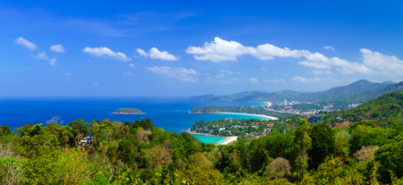 Bird eye view of Phuket, Thailand photo