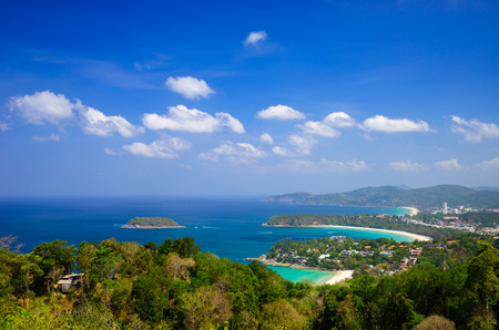 Bird eye view of Phuket, Southern of Thailand photo