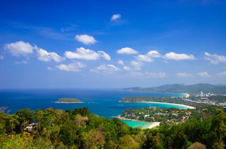Bird eye view of Phuket, Southern of Thailand photo