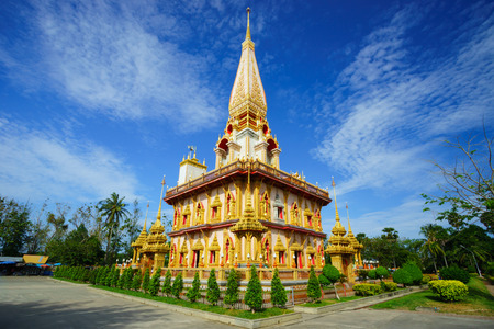 Wat Chalong temple Phuket, South of Thailand photo