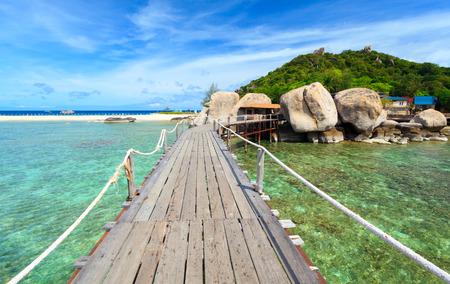 nangyuan: Bridge to Nangyuan island, Suratthani, Southern of Thailand