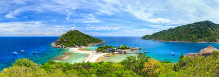 Panorama of Koh Nangyuan island, Suratthani, Southern of Thailand photo