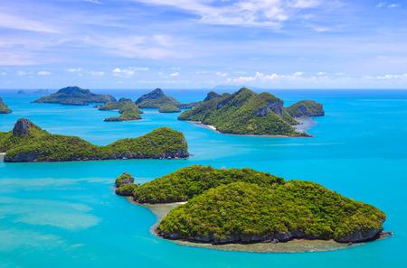 ang: Bird eye view of Angthong national marine park, koh Samui, Thailand Stock Photo
