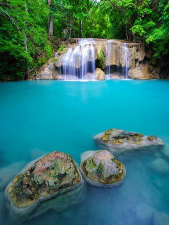 torrent: Erawan Waterfall, Kanchanaburi, Thailand