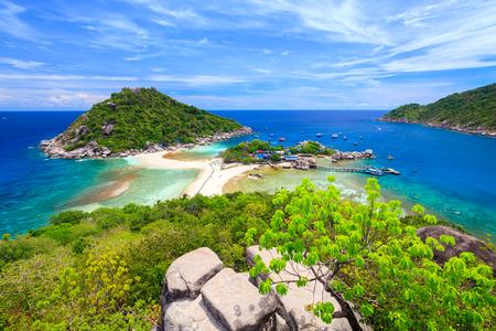 Nangyuan wyspy, Suratthani, południowej Tajlandii Zdjęcie Seryjne