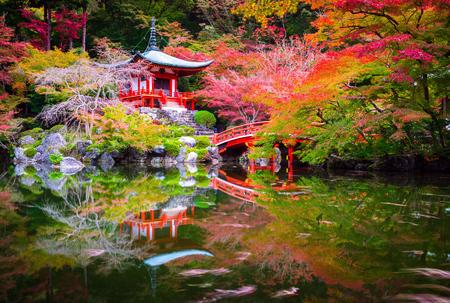 Daigoji Tempel im Herbst, Kyoto, Japan Standard-Bild - 33929639