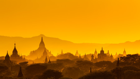 stupas: The  Temples of , Bagan(Pagan), Mandalay, Myanmar Stock Photo