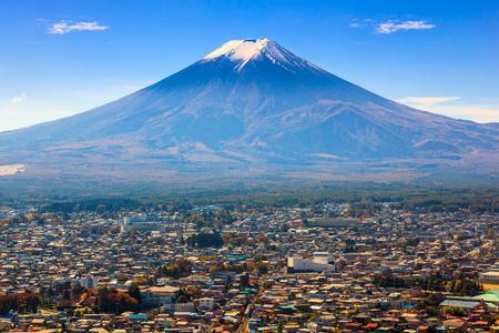 Mt の眺め.富士、富士吉田市、日本 写真素材