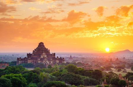 The  Temples of Bagan(Pagan), Mandalay, Myanmar Stok Fotoğraf