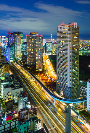 Aerial view of Tokyo skyscrapers, Hamamatsucho, Minato, Japan photo