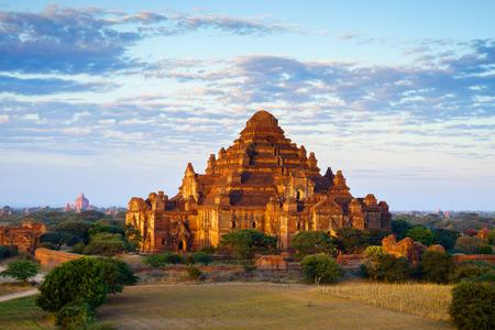 Dhammayangyi temple at sunrise, The biggest Temple in Bagan (Pagan), Myanmar photo