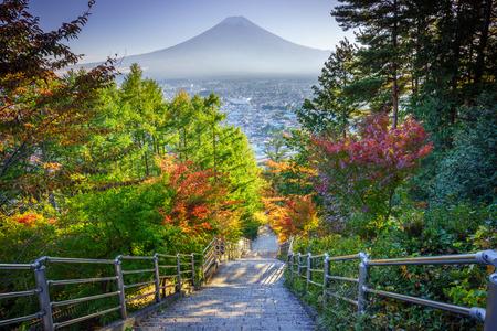 Stairway to Mt. Fuji Fujiyoshida, Japan photo