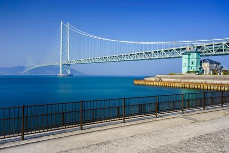 inland waterways: Akashi Kaikyo Bridge, Kobe, Japan