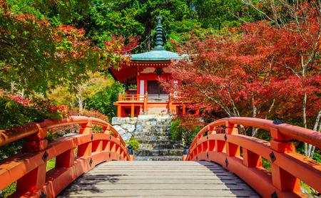 ancient japanese: Daigoji Temple in Autumn, Kyoto, Japan