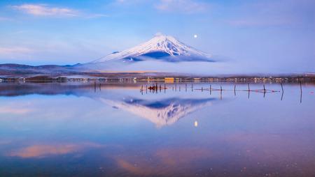 japan: Mt.Fuji with Lake Yamanaka, Yamanashi, Japan Stock Photo