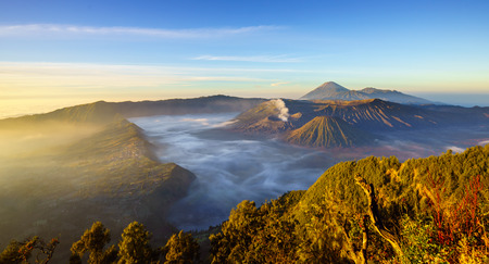 tengger: Bromo volcano at sunrise,Tengger Semeru national park, East Java, Indonesia