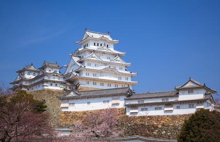 Himeji Castle in spring cherry blossom season, Hyogo, Japan 報道画像