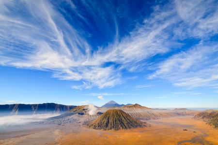 destinations: Bromo volcano at sunrise,Tengger Semeru national park, East Java, Indonesia