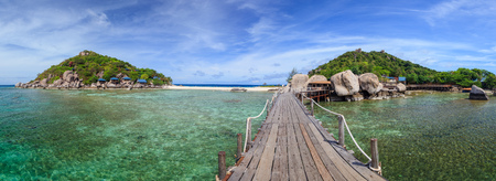 nangyuan: Panorama of Koh Nangyuan island, Suratthani, Southern of Thailand Stock Photo
