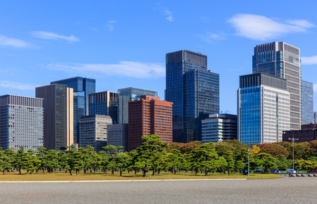 developed: Buildings at Marunouchi area in Tokyo, Japan