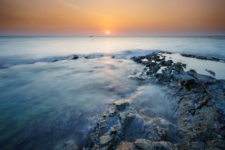 phangnga: Seascape of Khao Lak Beach at sunset, Phangnga, Thailand.