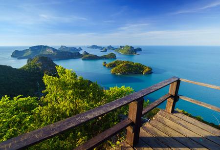 angthong: Bird eye view of Angthong national marine park, koh Samui, Suratthani, Thailand Stock Photo