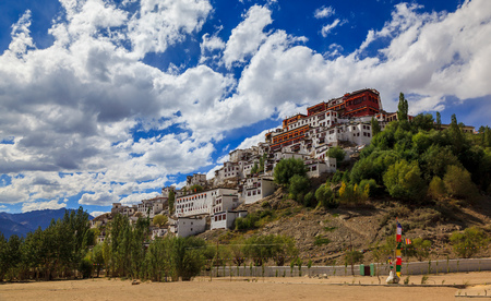 monastery: Thiksey Monastery or Thiksey Gompa, Leh Ladakh, Jammu and Kashmir, India Editorial