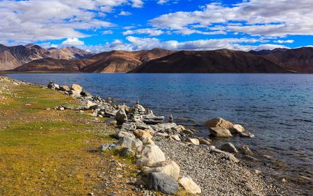 Pangong tso Lake, Ladakh, Jammu and Kashmir state, India