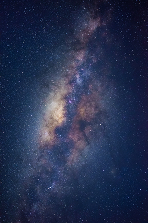 The Milky way galaxy on a night sky