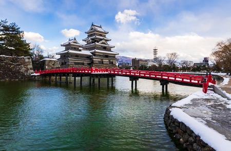 Matsumoto castle in Winter  season, Nagano, Japan Banco de Imagens