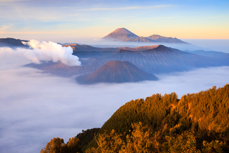 Bromo volcano at sunrise,Tengger Semeru national park, East Java, Indonesia