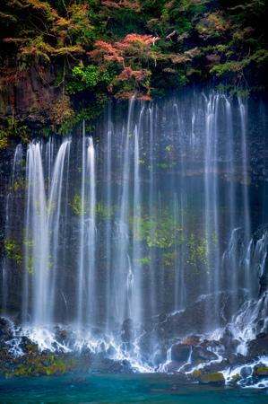 Shiraito waterfall in Autumn, Japan Banco de Imagens