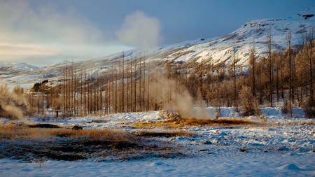 Strokkur geyser, Haukadalur geothermal field, Iceland